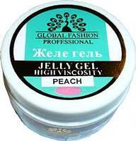 Гель желе  для ногтей Global 14 мл персик