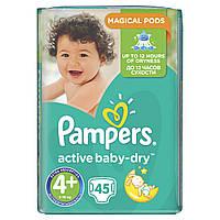 Дитячі пiдгузники PAMPERS Active Baby-Dry Maxi+ (9-16 кг) 45 шт