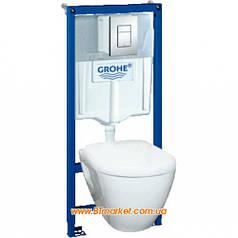 Комплект инсталляции Grohe Solido 4 в 1 с подвесным унитазом с сиденьем микролифт 39186000