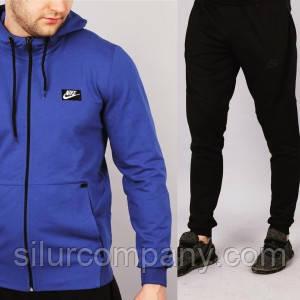 Мужской спортивный костюм Nike синий с черным - Интернет магазин