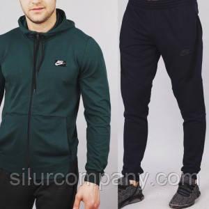 18c3e828 Мужской спортивный костюм Nike зеленый с черным - Интернет магазин