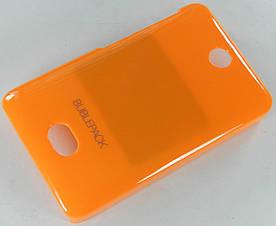 Чехол пластиковый на Nokia Asha 501 Bubble Pack Оранжевый