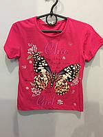 Футболка для девочки с бабочкой
