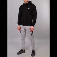 Мужской спортивный костюм Nike черный с серым