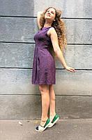 Платье летнее с воротничком из штапеля П140