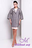 Женское светло-серое осеннее пальто (р. S, M, L) арт. Бина мелкое букле 14391