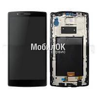 Дисплей для LG G4 F500/H815/ P1 черный, с тачскрином и рамкой, в сборе