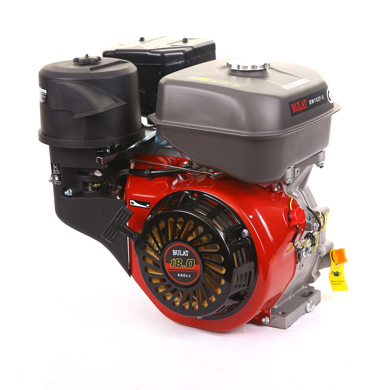 Двигатель бензиновый BULAT BW192F-S (шпонка, 18 л.с., ручн. стартер) (Weima 192)