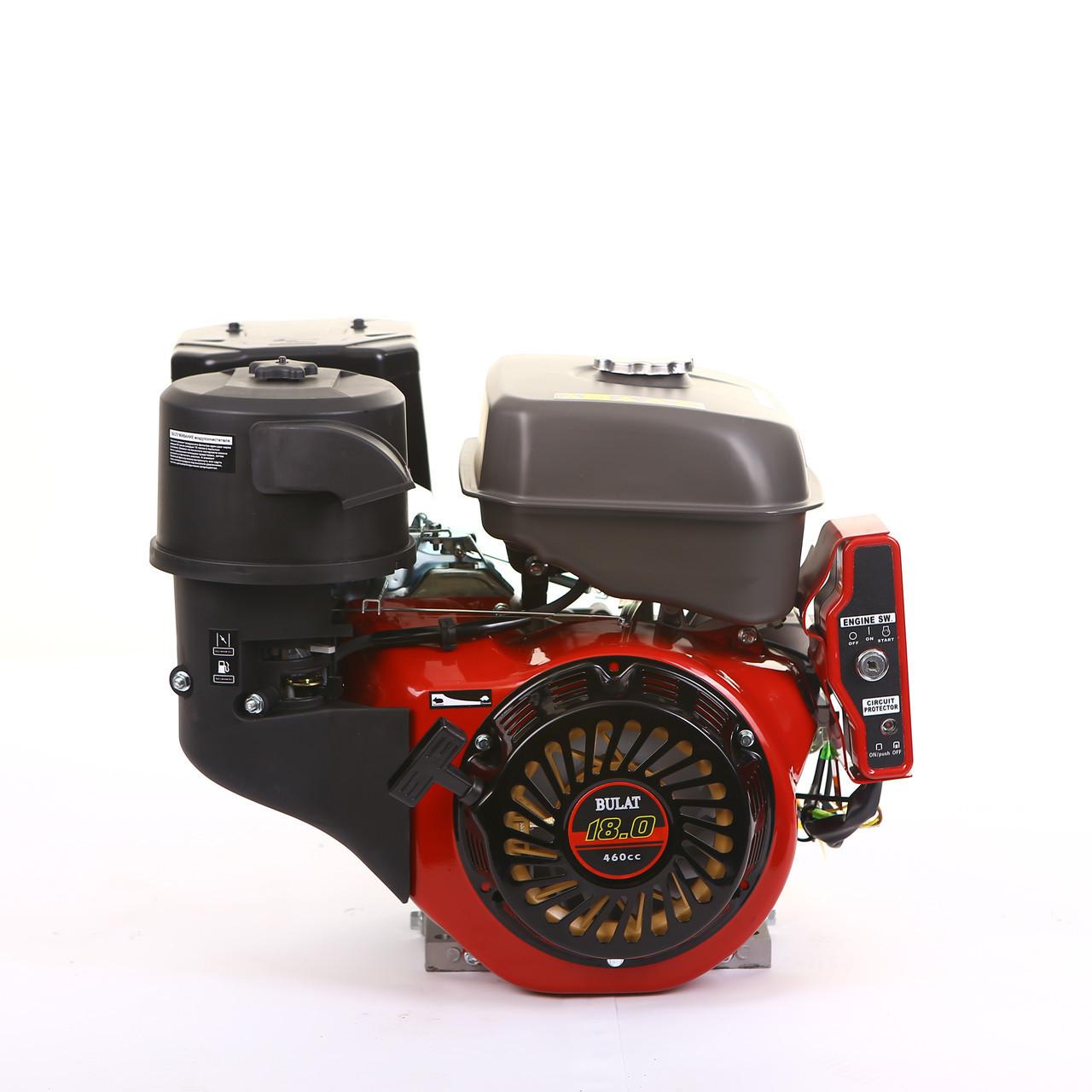 Двигун бензиновий BULAT BW192FE-S (шпонка, 18 л. с., електростартер) (Weima 192)
