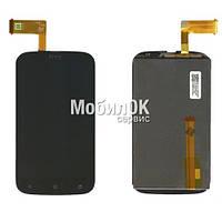 Дисплей для HTC T328w Desire V черный, с тачскрином