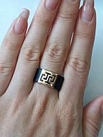 Каучуковое кольцо со вставкой золота