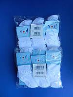 """Носки (L 23-24 размер) хлопок для девочек """"YO SCORPIO"""" АЖУРНЫЕ С РЮШЕМ  Белые Польша"""