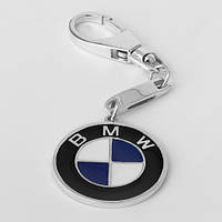"Серебряный брелок для автомобиля ""BMW"" (БМВ) ЮМ-8127"