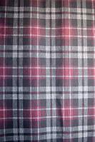 Ткань Трикотаж джерси принт клетка шотландка с сливовым