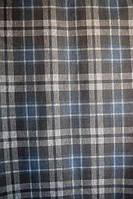 Ткань Трикотаж джерси принт клетка шотландка с синим