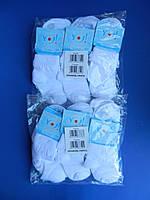 """Носки (S 19-20 размер) хлопок для девочек """"YO SCORPIO"""" С ВЯЗАНЫМ АЖУРНЫМ РЮШЕМ  Белые"""