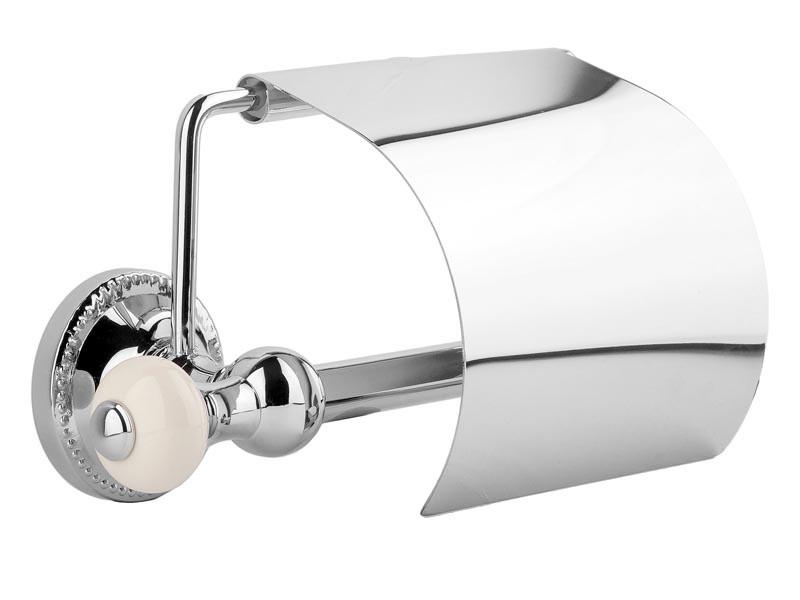 Держатель для туалетной бумаги с крышкой Kugu Pan 011C, хром