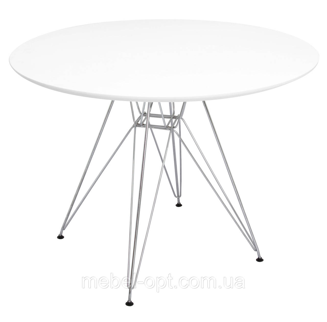 стол обеденный прайз круглый диаметр 80см круглый стол на металлических ножках Eames Eiffel Leg Table