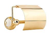 Держатель для туалетной бумаги с крышкой Kugu Pan 011G, золото