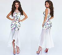 Платье Ткань: дайвинг, сетка Длина платья: 113 см Эксклюзивный пошив! Ручная работа!2 цвета нкух№ 671