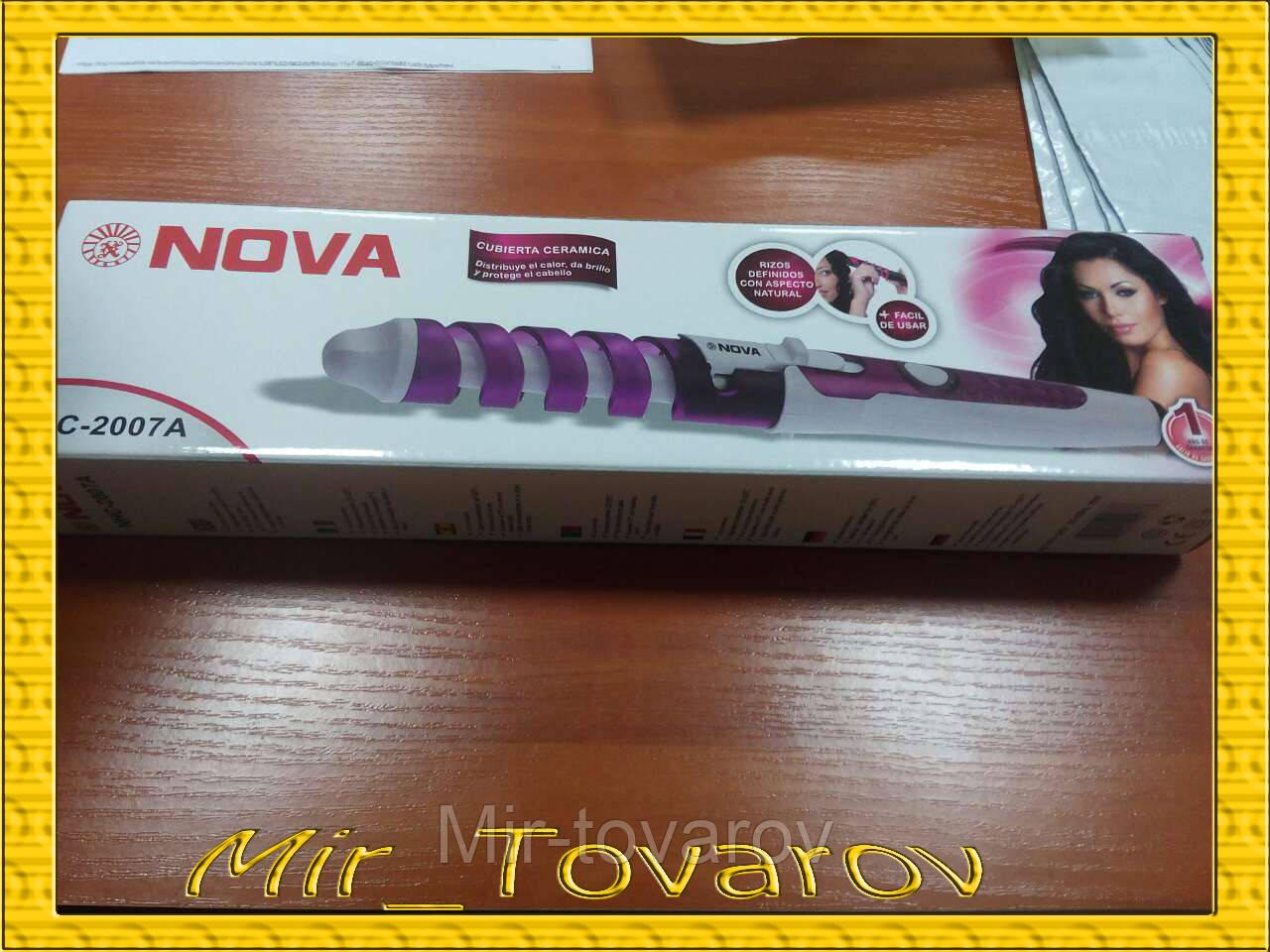 Плойка спиральная для волос профессиональная NOVA NHC-2007A
