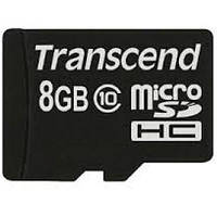 Карта памяти Transcend 8Gb microSDHC class 10 (TS8GUSDC10)