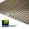СОТОВЫЙ ПОЛИКАРБОНАТ (SUNLITE) 6ММ. бронза 2100X12000