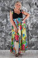Платье из шифона большого размера 357
