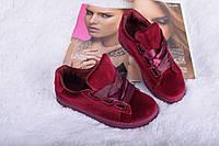 Кроссовки криперы бордовые бархат  копия Puma Suede Heart Reset Sneaker  c 36 по 41 размер