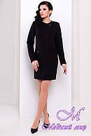 Женское черное осеннее пальто (р. S, M, L) арт. Милан 9774