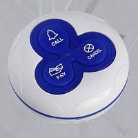 Кнопка вызова официанта и персонала R-333 Blue RECS USA