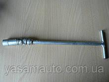 Ключ свечной 16 Т-образный длина 335мм с шарнирниром Украина КООП