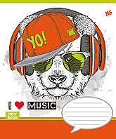 Тетрадь школьная 18 линия YES Музыка звери MUSIС PETS-16 (4823092205643), фото 1
