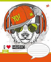 Тетрадь школьная 18 линия YES Музыка звери MUSIС PETS-16 (4823092205643)