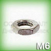 Гайка М6 нержавеющая низкая DIN 439 (ГОСТ 5929-70, ГОСТ 5916-70, ISO 4035, 4036, 8675) шестигранная