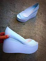 Туфли Valery белого цвета. Натуральная кожа, внутри кожа.Размерный ряд : 36-40.
