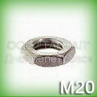 Гайка М20 нержавеющая низкая DIN 439 (ГОСТ 5929-70, ГОСТ 5916-70, ISO 4035, 4036, 8675) шестигранная