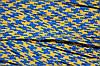 Тесьма ПЭ 12мм (100м) желтый+василек