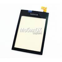 Сенсорный экран для Nokia 300 Asha черный High Copy