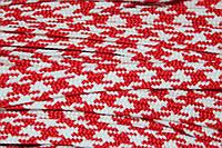 Тесьма ПЭ 12мм (100м) красный+белый