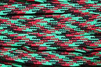 Тесьма ПЭ 12мм (100м) зеленый+красный+черный, фото 1