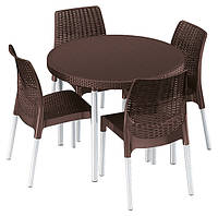 Комплект садовой мебели Jersey set, коричневый