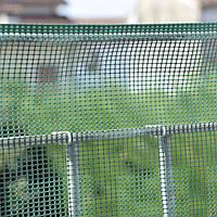 Сетка для растений, 1x5 м, квадратна, рулон, цвет-зеленый, 5 мм отверстия