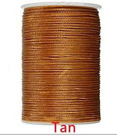 Нить вощеная 0,8мм 78метров полиэфирная микрофибра  009 Tan
