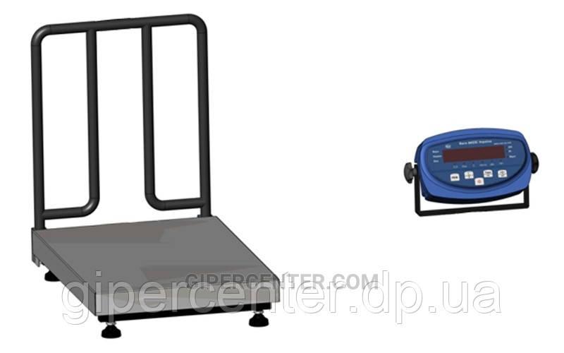 Товарные весы с ограждением для мешков BDU150-0808 М бюджет 800х800 мм (без стойки)