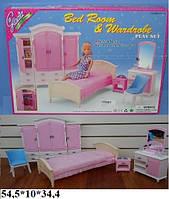 Мебель для кукол спальня с гардеробом Gloria 24014