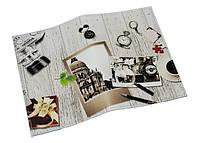 Кожаная обложка для паспорта -Черно-белое фото-