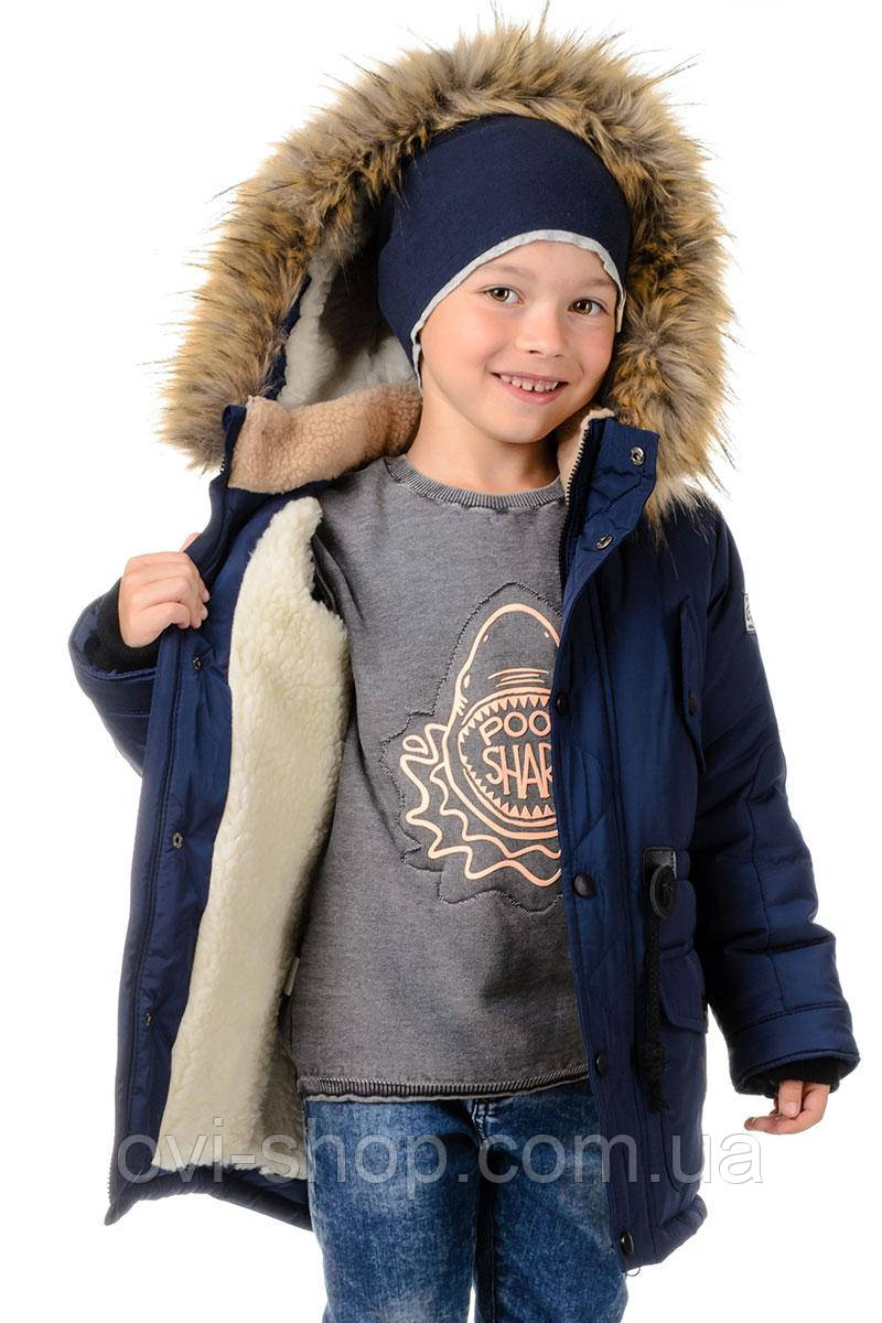 3f130abcbea Купить Зимняя куртка парка для мальчика на меху