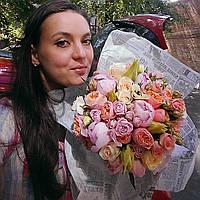 Свадебный букет в нежно розовых тонах