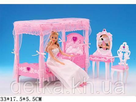 Мебель для кукол Gloria 2614 спальня с трюмо